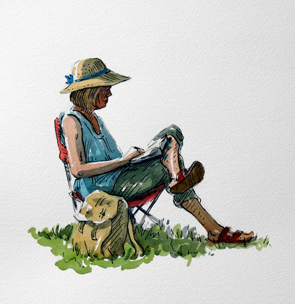 These are the steps I followed for the study of the seated figure    Ink Wash Painting Of People