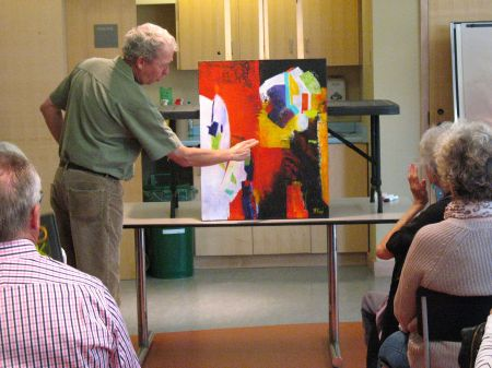 Commenting on Abstract Work - Markham Group of Artists - 19/9/2012