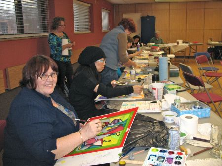 'Cubists' at work - Markham Group of Artists-30/1/2013
