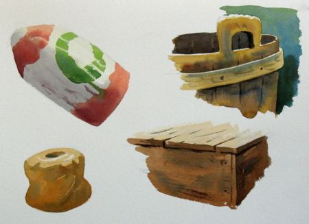 Watercolour demonstration by Barry Coombs - WinterSat2/2013