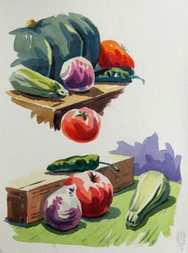 Watercolour demonstration by Barry Coombs - WinterTuesWk5