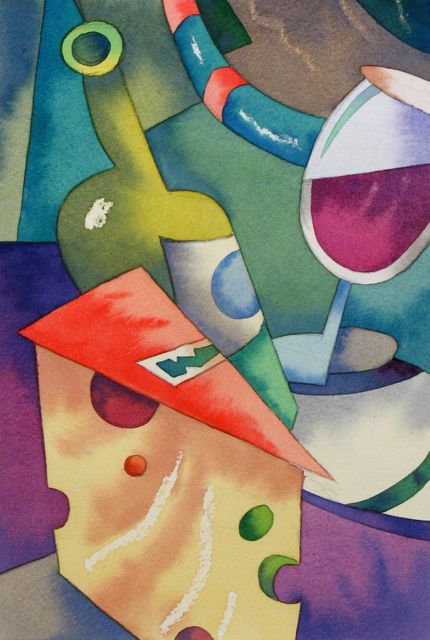 Cubist watercolour demonstration by Barry Coombs-LB&PC2013