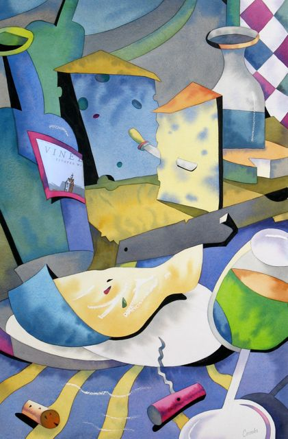 'Cubist' Still Life by Barry Coombs