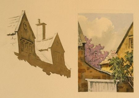 Pen and watercolour demonstration by Barry Coombs-Cotswolds2013