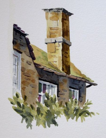 Watercolour demonstration by Barry Coombs-Cotswolds2013