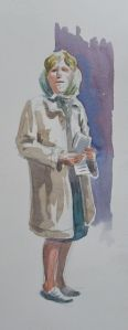 Watercolour demo by Barry Coombs-Cotswolds2013