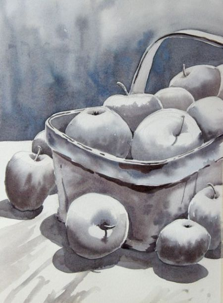 Apples in Grey by Barb Stanley