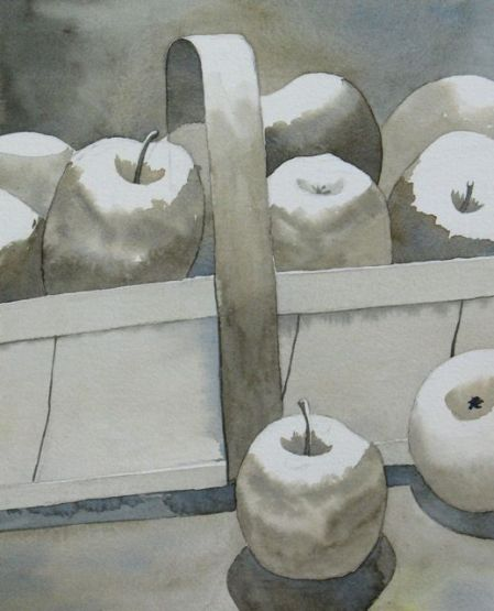 Apples in Grey by Kim Magee