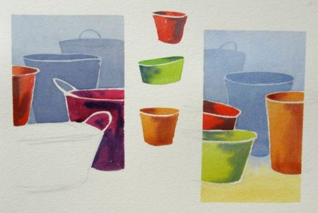 Watercolour demonstration sheet by Barry Coombs - FallTuesWk6/2013