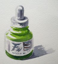 Ink Bottle - Watercolour by Barry Coombs - WGA2013