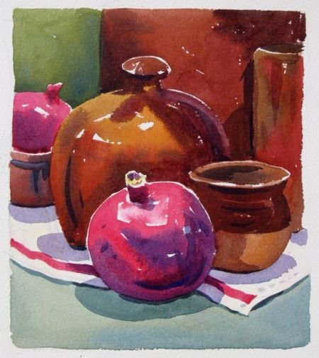 Watercolour demonstration by Barry Coombs - FallSustSat3/2013
