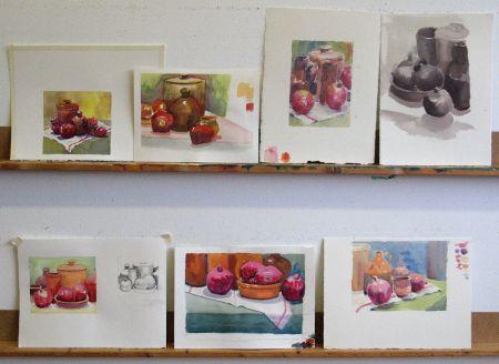 Watercolour studies - FallSustSat3/2013