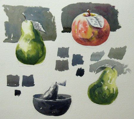 Watercolour demonstration by Barry Coombs - WinterTues2014Wk1