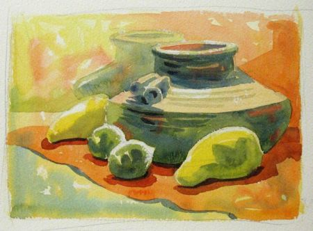 Watercolour Demonstration by Barry Coombs - WinterTuesWk3/2014