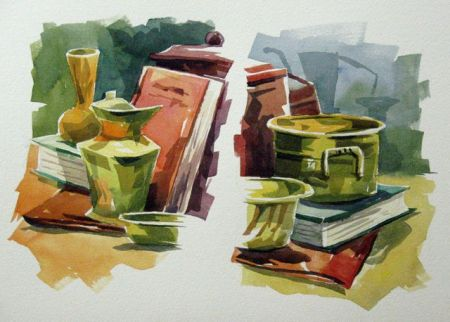 Watercolour demonstration by Barry Coombs - WinterTuesWk8/2014