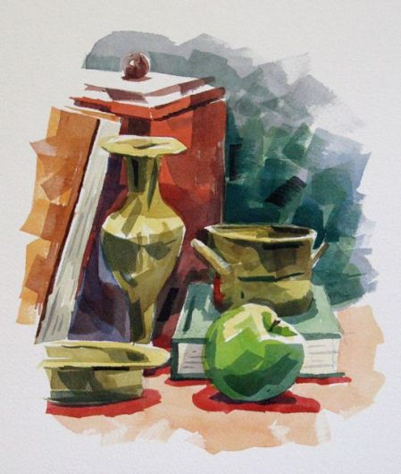 Watercolour demonstration by Barry Coombs - WinterSat3/2014