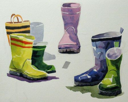 Watercolour demonstration by Barry Coombs - WinterTuesWk9/2014