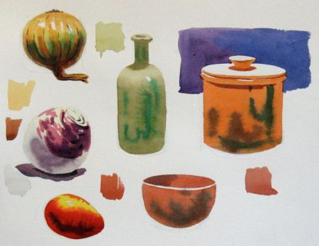 Watercolour demonstration by Barry Coombs - SpringSustSat1/2014