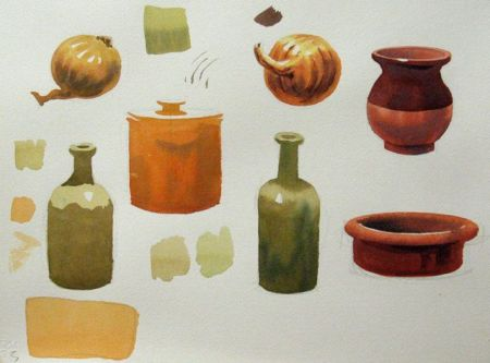 Watercolour demonstration by Barry Coombs - SpringTuesdays2014/Wk1