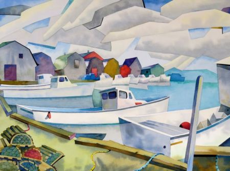 LOBSTER BOATS, PEI by Barry Coombs