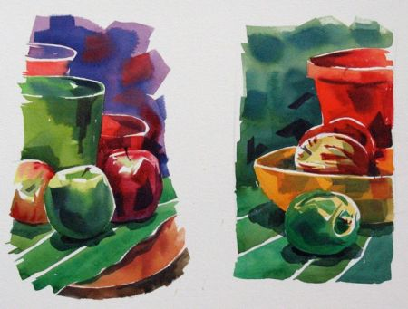 Watercolour demonstration by Barry Coombs - SpringTuesWk8/2014