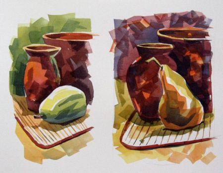 Watercolour Demonstration by Barry Coombs - SpringTuesWk6/2014