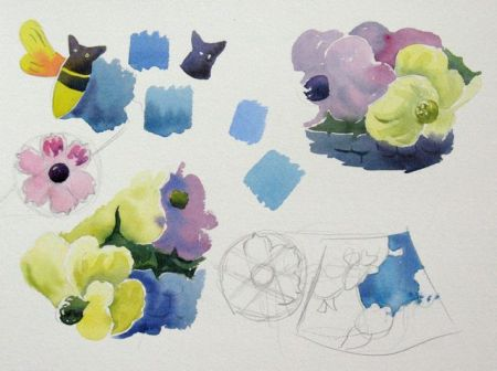 Watercolour demonstration by Barry Coombs - SpringTuesWk10/2014