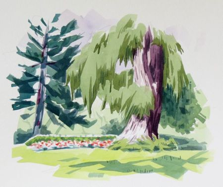 Watercolour demonstration by Barry Coombs  - PleinAirTO2014