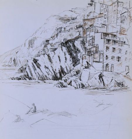Riomaggiore by Barry Coombs