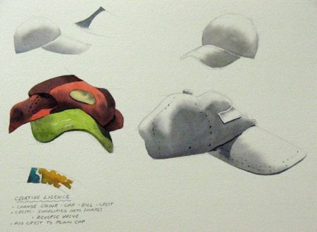 Watercolour study sheet by Barry Coombs