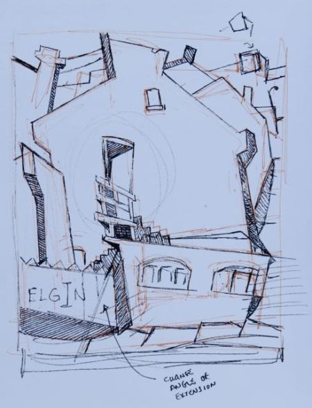 Sketch 2 for ELGIN by Barry Coombs