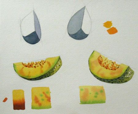 Watercolour demonstration by Barry Coombs