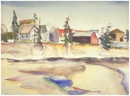 Village, Grand Manan by Jack Humphrey