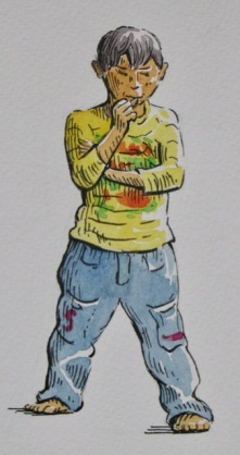 Pen and Watercolour at DVSA – Drawing People!