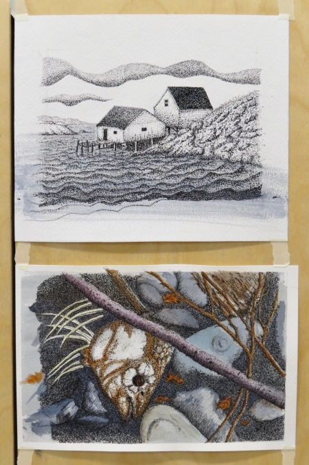 Pen and Watercolour Projects by Val
